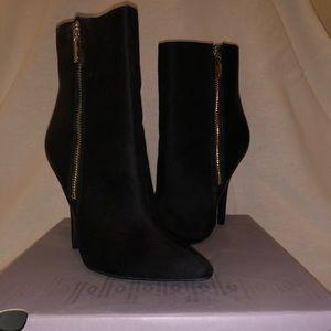 Jennifer Lopez Vaquera Black Ankle Boots